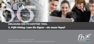 Lean Six Sigma - ein neuer Hype? - FH Kufstein Tirol