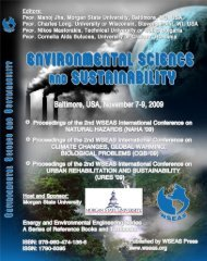 ENVIRONMENTAL SCIENCE AND SUSTAINABILITY ... - Wseas.us
