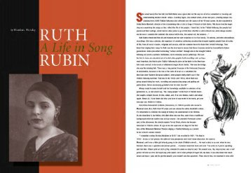 Ruth Rubin: A Life in Song - Yiddish Book Center