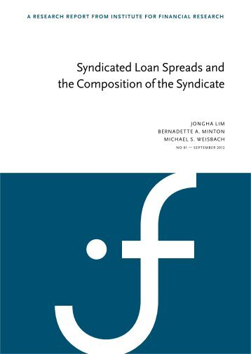 Syndicated Loan Spreads and the Composition of the Syndicate