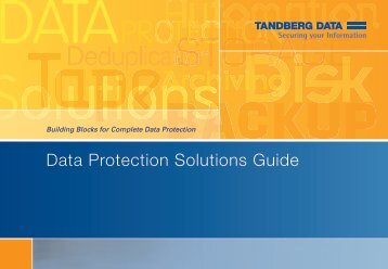 Data Protection Solutions Guide - Storesys