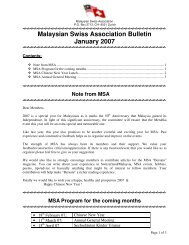 Malaysian Swiss Association Bulletin January 2007