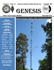 John Williams KB1EVY - Genesis Amateur Radio Society