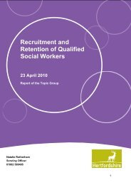 Recruitment and Retention of Qualified Social Workers