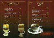Desserts & Coffee Menu