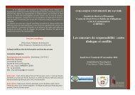 Les concours de responsabilité : entre dialogue et conflits
