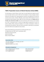TOEFL Preparation Course at Munich Business School (MBS)