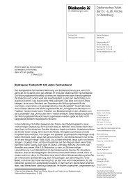 Diakonisches Werk der Ev. -Luth. Kirche in Oldenburg - Diakonie im ...