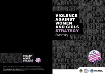 Violence Against Women and Girls Strategy Summary