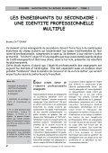 les enseignants du secondaire - Prospective Jeunesse - Page 4