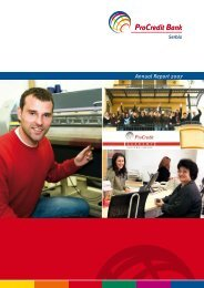 Annual Report 2007 - ProCredit Bank