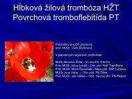 Prevencia a liečba VTE a povrchovej tromboflebitídy