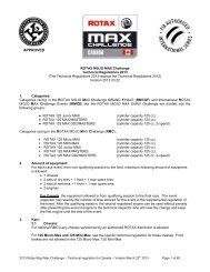 2013 Technical regulations - Max Challenge