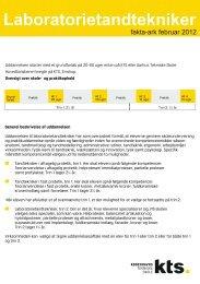 Laboratorietandtekniker - Københavns Tekniske Skole