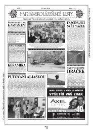 DRÁČEK - Mariánskolázeňské listy