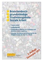 Branchenbuch grundständige Studiengänge Soziale Arbeit - DBSH