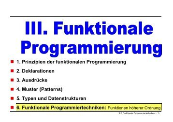 Funktionale Programmiertechniken
