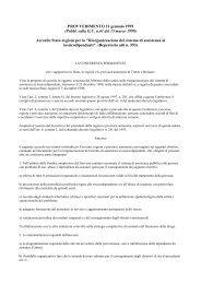 Accordo Stato-regioni per la