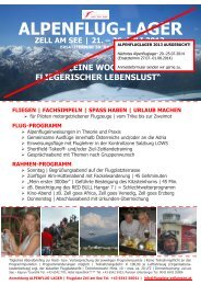 ALPENFLUG-LAGER - Flugplatz Zell am See