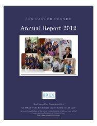 Annual Report 2012 - Rex Healthcare