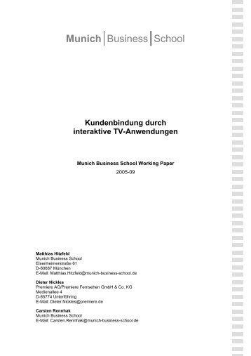 Kundenbindung durch interaktive TV ... - Munich Business School