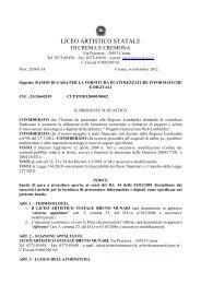bando di gara Generazione Web munari - Liceo Artistico Bruno Munari