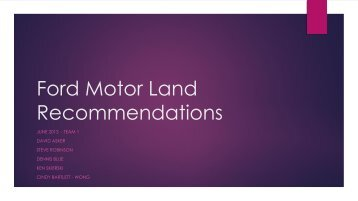 Ford Motor Land Recommendations - CoreNet Global