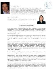 Experiencias Familiares. - Asociación Catalana del Síndrome de Rett.