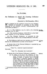 LICENSING ORDINANCE (NO. 2) 1961.