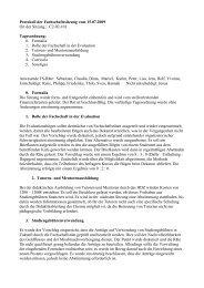 Fachschaftsratsitzung vom 15.07.2009 - Fachschaft Chemie