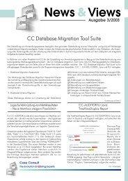 News&Views, Ausgabe 3/2003 - CC GmbH