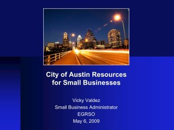 City of Austin Resources for Small Businesses