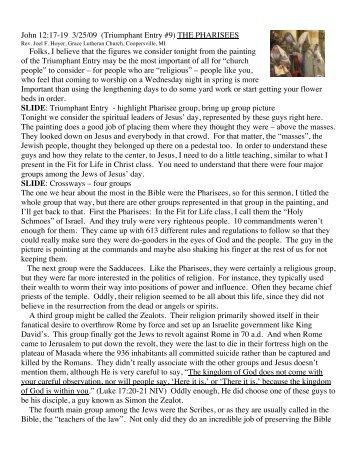Pharisees - FFLinChrist.org