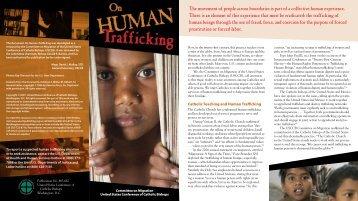 On Human Trafficking - United States Conference of Catholic Bishops