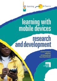 learning with mobile devices edited by Jill Attewell and ... - M-Learning