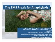 The EMS Praxis for Anaphylaxis - Gathering of Eagles