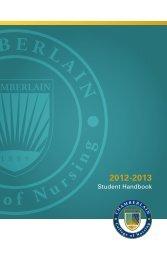 Student Handbook - Chamberlain