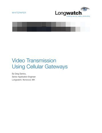 Video Transmission Using Cellular Gateways - Automation.com