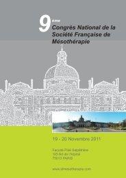 Congrès National de la Société Française de Mésothérapie 9ème