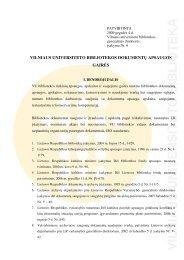 Vilniaus universiteto bibliotekos dokumentų apsaugos gairės