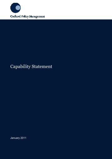 OPM Capability Statement - Oxford Policy Management