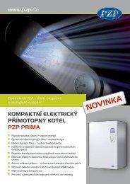 KompaKtní eleKtricKý přímotopný Kotel pZp prima - SOLARsystems