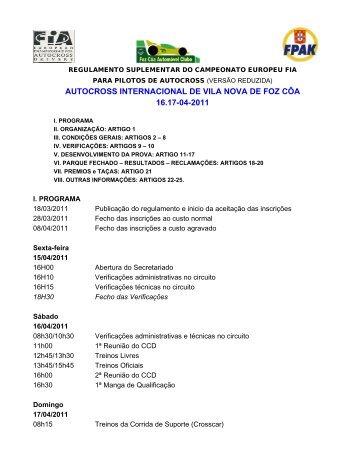 autocross internacional de vila nova de foz côa ... - Autocross-EM