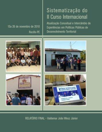Sistematização do II Curso Internacional de Atualização ... - OPPA