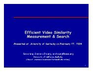 Efficient Video Similarity Measurement - University of Kentucky