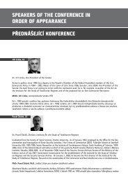Seznam přednášejících s jejich krátkými profily - Ústav pro studium ...