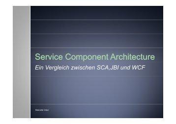 Service Component Component Architecture Architecture