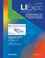 October 19, 2005 www.liexpo.com - Advantage Business Media