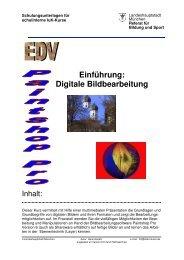 Einführung: Digitale Bildbearbeitung - Muc.Kobis