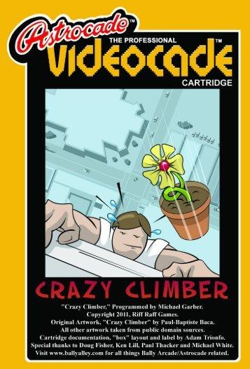 """""""Crazy Climber"""" Manual - Bally Alley"""